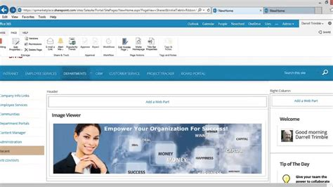 Intranet Portal Template For Sharepoint And Office 365 Youtube Sharepoint Intranet Templates