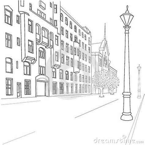 street sketchbook street graphics 0500513627 city street stock image image 33425811
