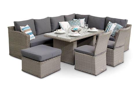 rattan corner sofa dining set chelsea rattan sofa corner dining set with dining chairs grey