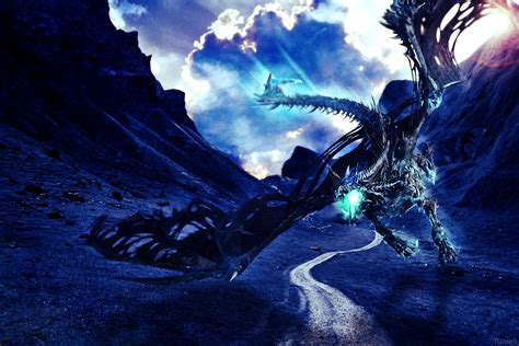 blue wallpaper deviantart blue dragon wallpaper by tuoseli on deviantart