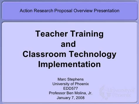 format proposal classroom action research action research proposal presentation draft