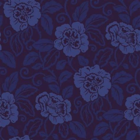 navy blue wallpaper uk belle royal blue flock 980508