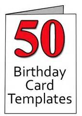 free 50th birthday card templates for word