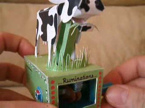 Moving Papercraft - moving papercraft cow automata ruminations