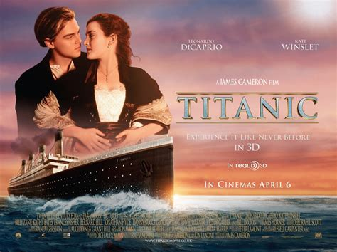 film love en 3d film titanic en 3 d de james cameron