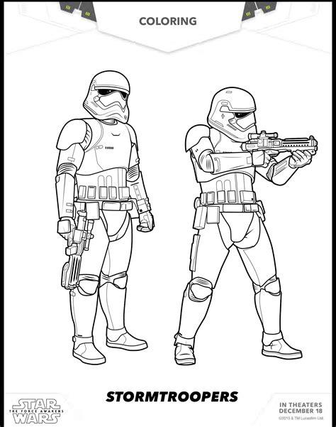 imagenes para colorear star wars 8 dibujos para colorear de star wars the force awakens
