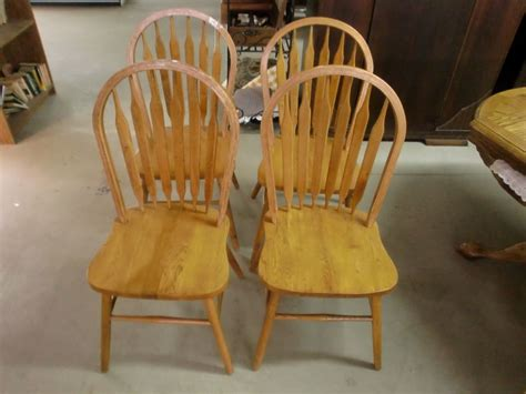 Modern Country Style Set of 4 Wood Arrow Back Chairs   eBay