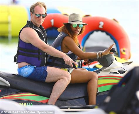 Eve and Maximillion Cooper ride jet ski during holiday in Barbados   Daily Mail Online