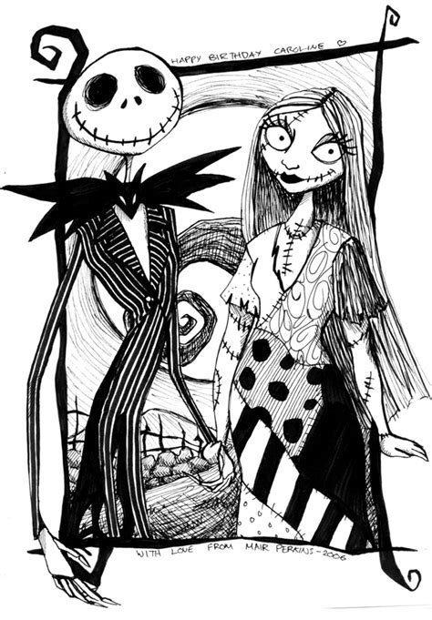 Jack And Sally By Tifachan On Deviantart Sally Nightmare Before Coloring Pages