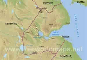 Djibouti Africa Map by Djibouti Physical Map