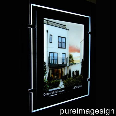 a4 double sided led window light pocket panel estate agent
