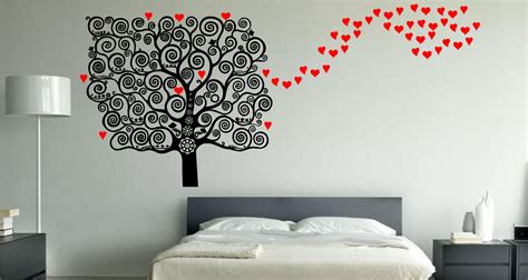 wall hangings for bedrooms stunning love heart tree wall art sticker decal bedroom