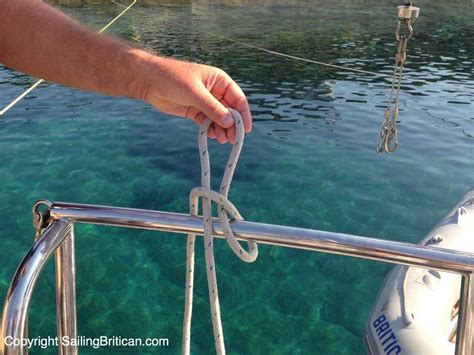 quick boat knots quick release knot for tenders video included sailing