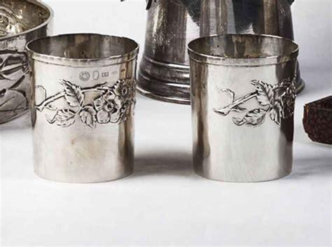bicchieri argento coppia di bicchieri in argento asta di primavera asta