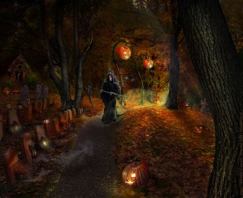 Grusel Bilder by Scary 2012 Hd Wallpapers Pumpkins Witches