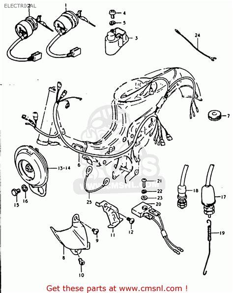 1981 suzuki gs450 wiring diagram suzuki gs1150 wiring