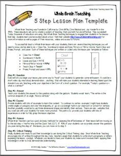 lesson plan template higher education madeline hunter lesson plan week long format higher