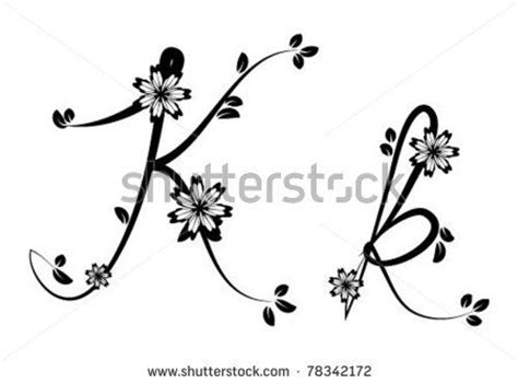tattoo fonts with flowers 1000 ideas about letter k on k