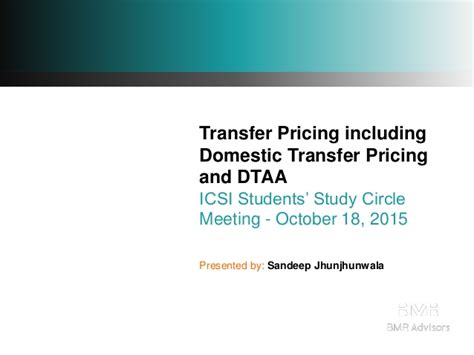 sle transfer pricing study report tp including sdt and dtaa