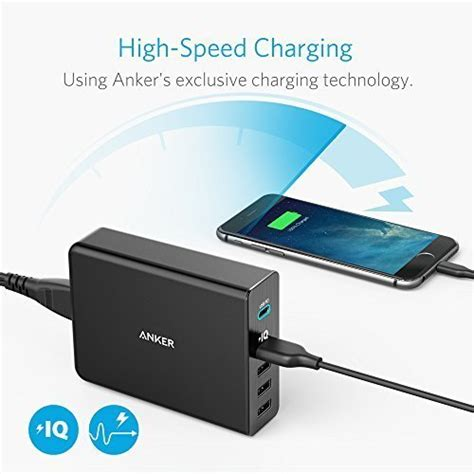 anker australia anker powerport 5 port 60w usb c charger with power