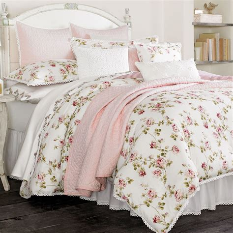 pink floral bedding rosalie floral comforter bedding by piper wright