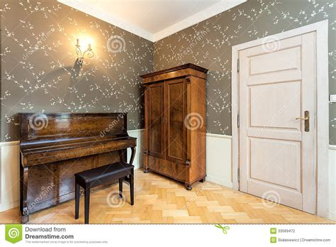 vintage mansion  room stock photography image