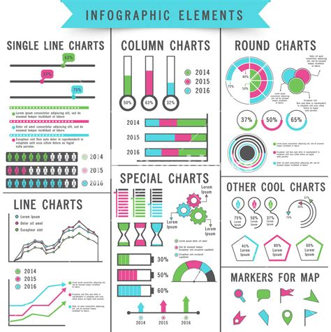licensing agreement template free set of different statistical charts and graphs infographic
