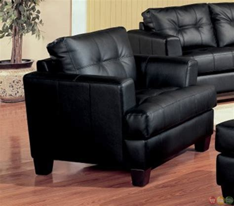 Bonded Leather Sofa And Loveseat Samuel Black Bonded Leather Living Room Sofa And Loveseat Set Living Room Furniture Shop Factory