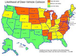 map of where deer live pictures to pin on