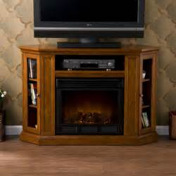 Corner Electric Fireplace Tv Stand Sei Claremont Media Console With Electric Fireplace Brown Mahogany Gel Fuel
