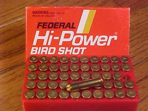 federal 22 long rifle ammo bird shot box of federal hi power 22 lr bird shot for sale at