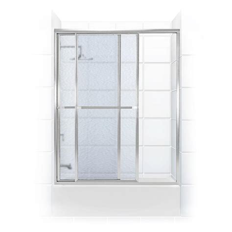 Obscure Shower Door Coastal Shower Doors Paragon Series 58 In X 58 In Framed Sliding Tub Door With Towel Bar In