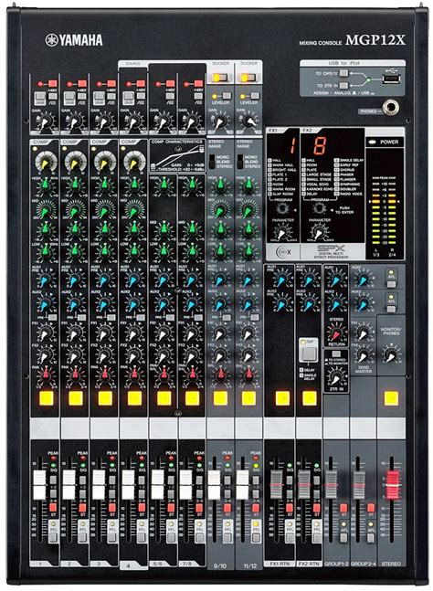 Mixer Yamaha 4 Chanel yamaha mgp12x 12 channel live sound mixer with dual effects processors andy s