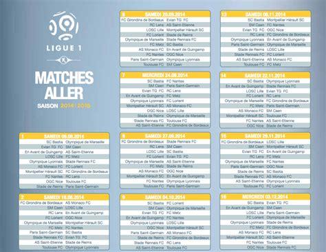 Calendrier Ligue 1 2016 Om Calendrier De La Ligue 1 Saison 2014 2015 Football
