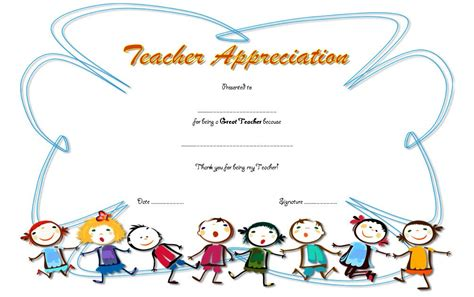 certificate of appreciation for teachers template appreciation certificate template 6 the best