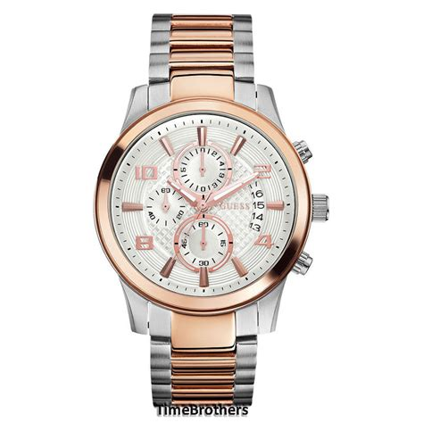 Guess Merica Rosegold Limited new guess for silver two tone bracelet chronograph u0075g2 91661420863 ebay