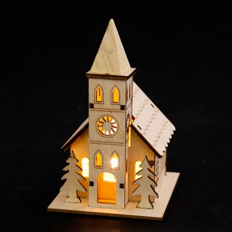 how to make wooden a christmas church noma laser cut crafted wooden church time uk