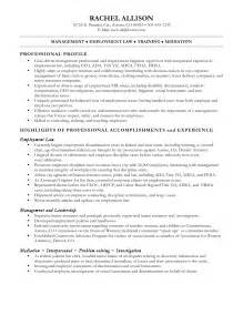 Workers Compensation Specialist Sle Resume by Sle Resume Workers Compensation Paralegal Resume Professional Profile