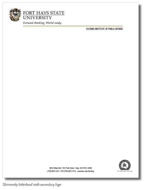 Letterhead Of College Best Photos Of Letterhead Stationery Exles Letterhead
