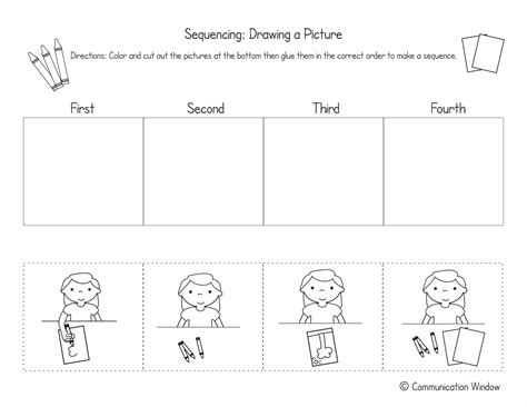 sequencing steps in a process worksheets back to school sequencing cut and glue freebie speechtivities