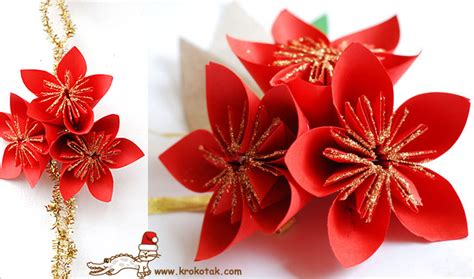 How To Make Paper Poinsettia Flowers - krokotak