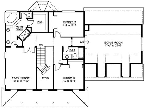 garage plans with bonus room bonus room over garage 23304jd 2nd floor master suite
