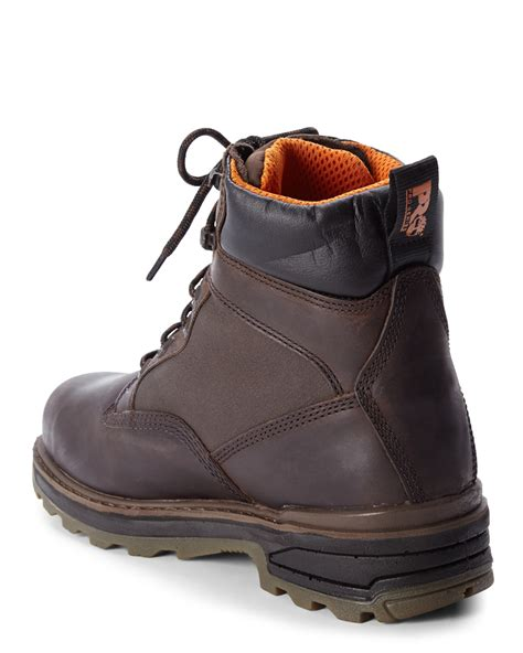 timberland resistor 6 quot composite safety toe boots in brown