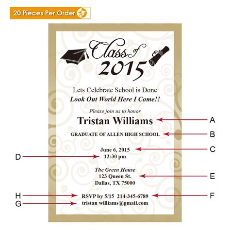 Vanderbilt Mba Invitation Date by College Graduation Announcement Gradshop