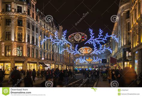 christmas lights black friday sales started in regent in lights editorial photography image of