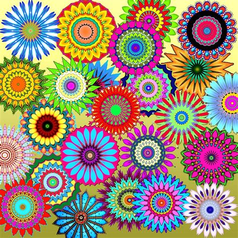 colorful designs and patterns free illustration patterns kaleidoscopes colorful