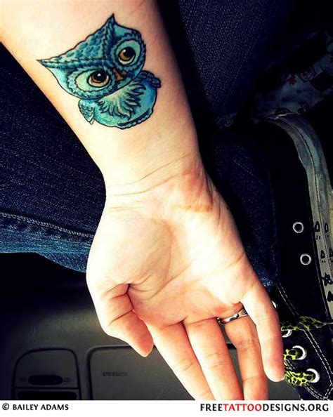 colorful owl tattoo bird gallery pictures of bird tattoos