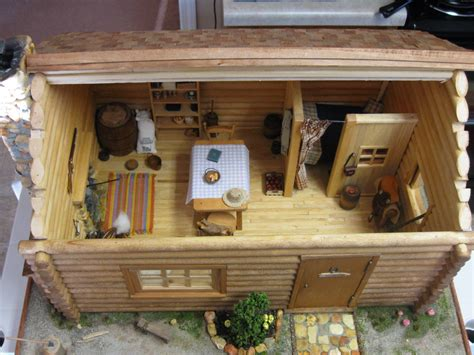 Popsicle Stick Cabin by Cabin Dollhouse Log Cabins And Dollhouses On