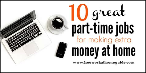 10 great part time for earning money at home