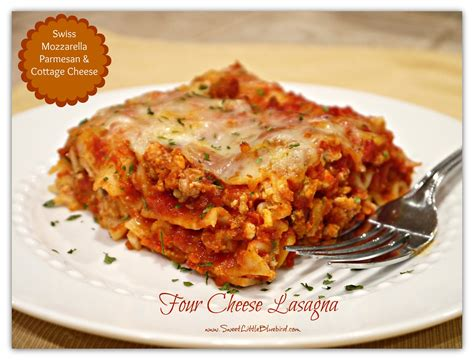 turkey lasagna with cottage cheese sweet bluebird tried true tuesday four cheese lasagna